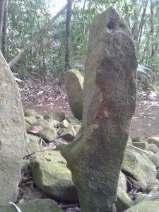 Batu berbentuk Kujang, di Situs Sanghyang Prabu Siliwangi