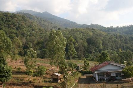 Panorama Gunung Ciremai dari Kawasan Sadarehe Rajagaluh