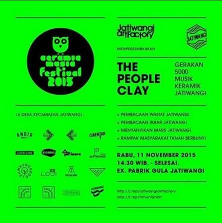 """Festival Musik Keramik The People Clay """"Gerakan 5000 Musik Keramik"""""""